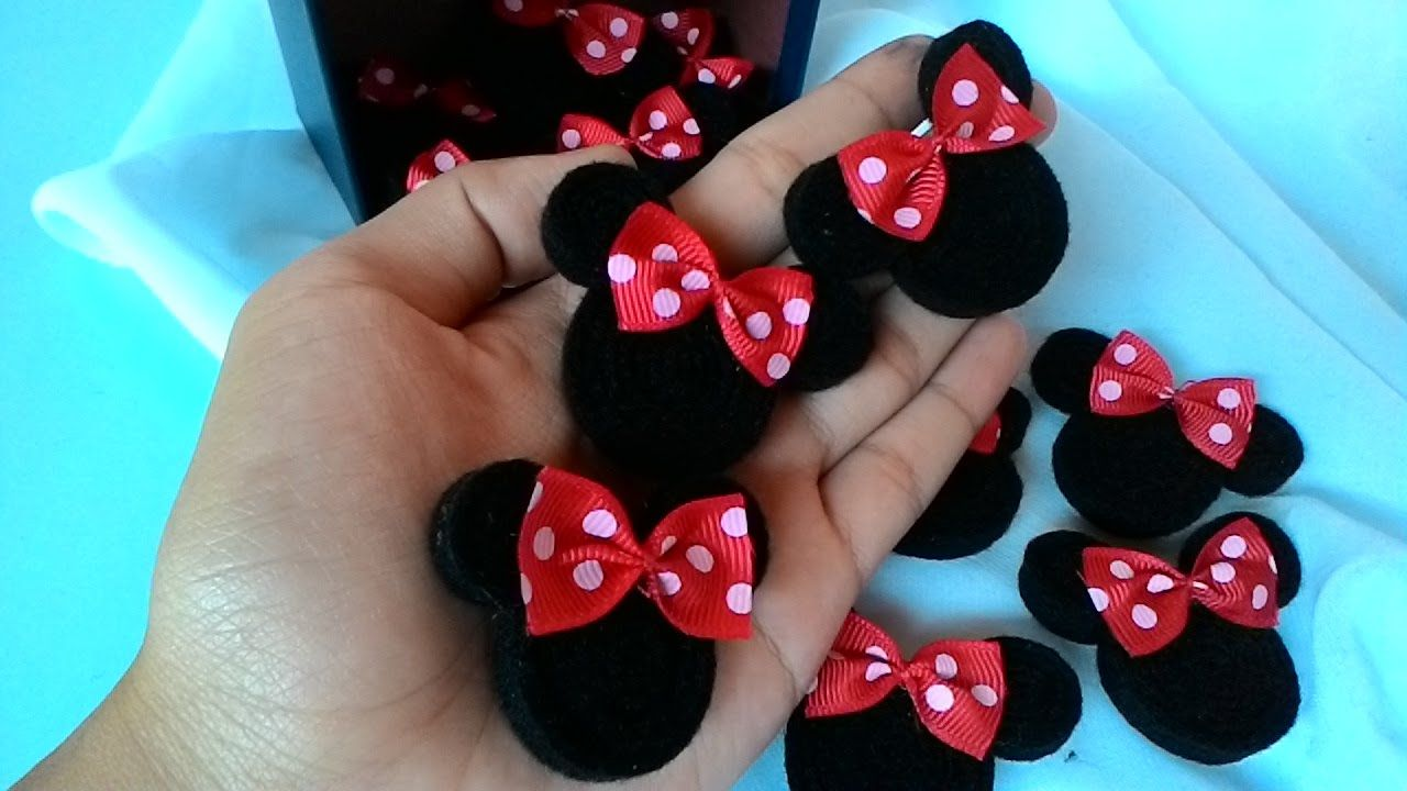 Cara Membuat Bros Minie Mouse Gulung Dari Kain Flanel Kain Flanel Bunga Kain Buat Pita
