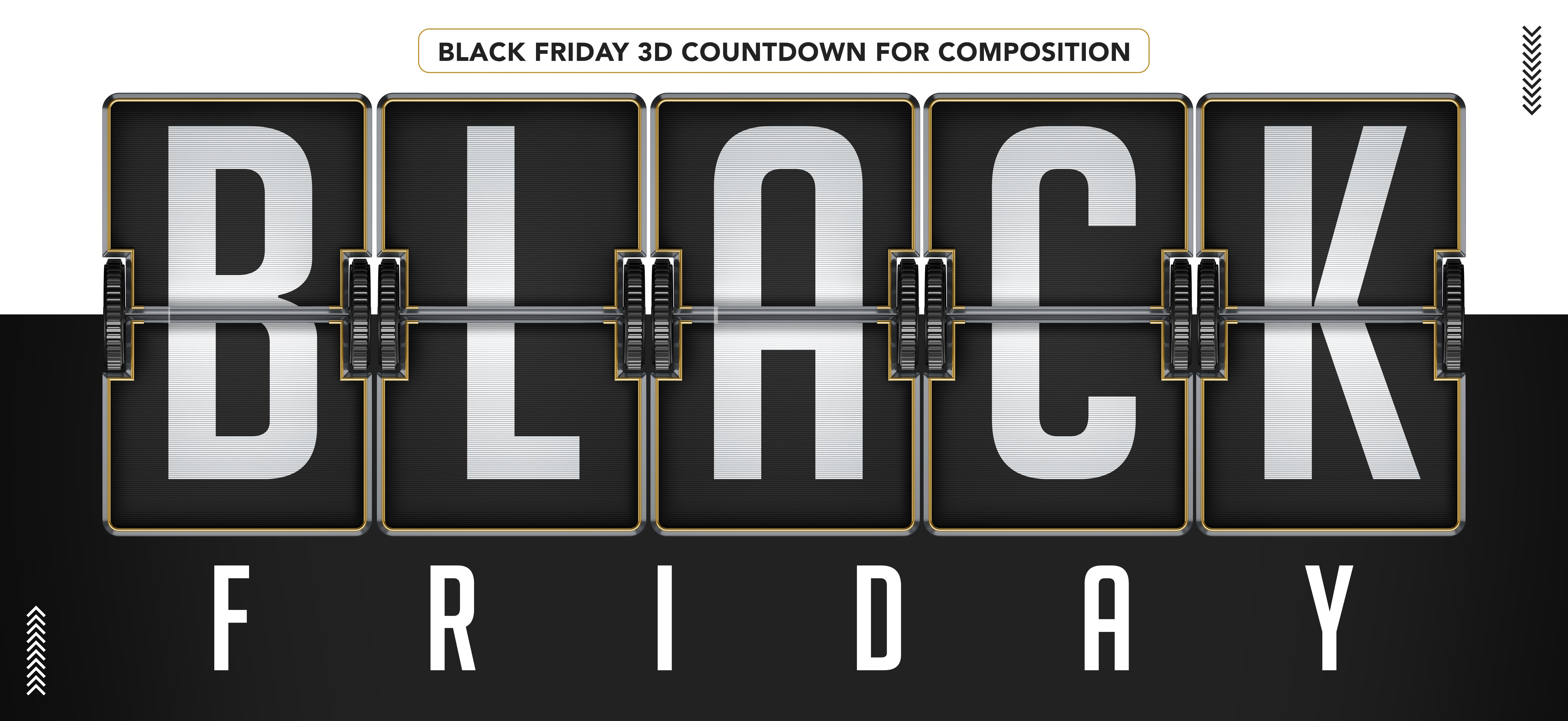 Black Friday 3d Countdown For Composition Mockup In 2020 Black Black Friday Composition