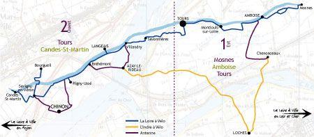 La Loire A Velo En Touraine Carte Et Informations Pratiques