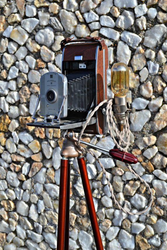 Polaroid Land Camera Tripod Floor Lamp By
