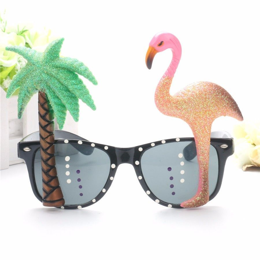Funny Flamingo Party Glasses Eyewear Costume Summer Beach Party Fancy Dress