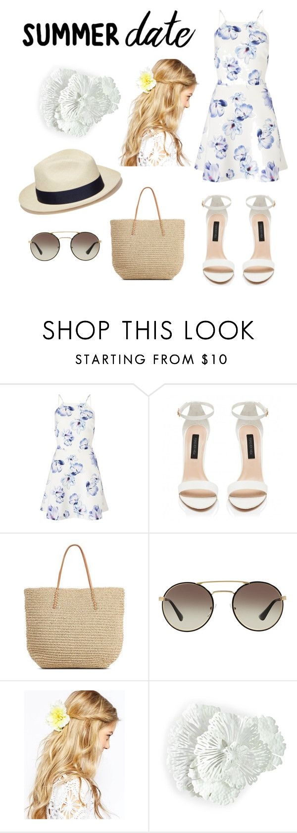 """""""Summer Date """" by cicilivelife443 ❤ liked on Polyvore featuring beauty, Lipsy, Target, Prada, Artesano, ASOS, beach and summerdate"""