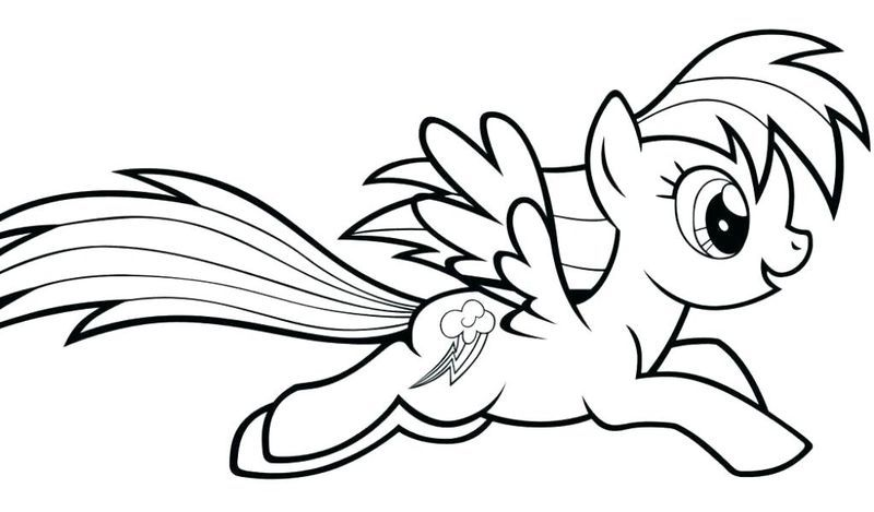 The Beautiful Rainbow Dash Coloring Pages Halaman Mewarnai