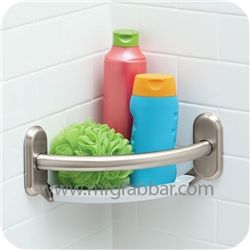Designer Grab Bar With Integrated Corner Shelf Moen