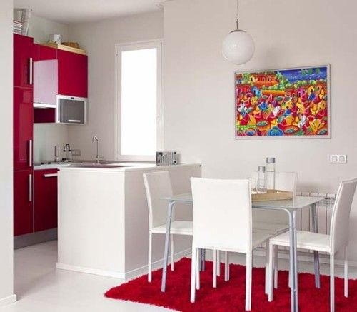 15 dise os de comedor y cocina juntos para espacios for Cocinas en espacios pequenos