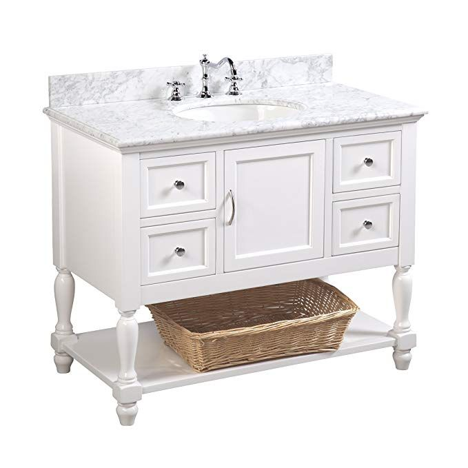 Beverly 42 Inch Bathroom Vanity Carrara White Includes