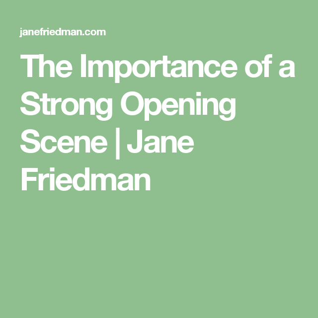 Image result for strong opening scene