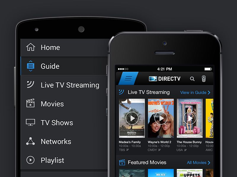 DIRECTV Phone Apps (iOS & Android) Ios apps, Phone apps