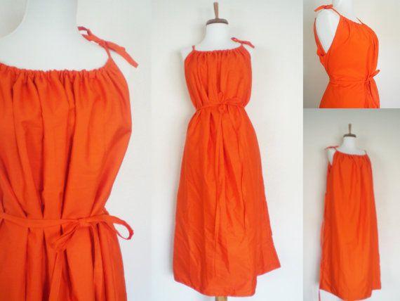 Orange Women\u0027s Pillowcase Dress; Long Lined Summer Dress & Orange Women\u0027s Pillowcase Dress; Long Lined Summer Dress | I\u0027d ... pillowsntoast.com