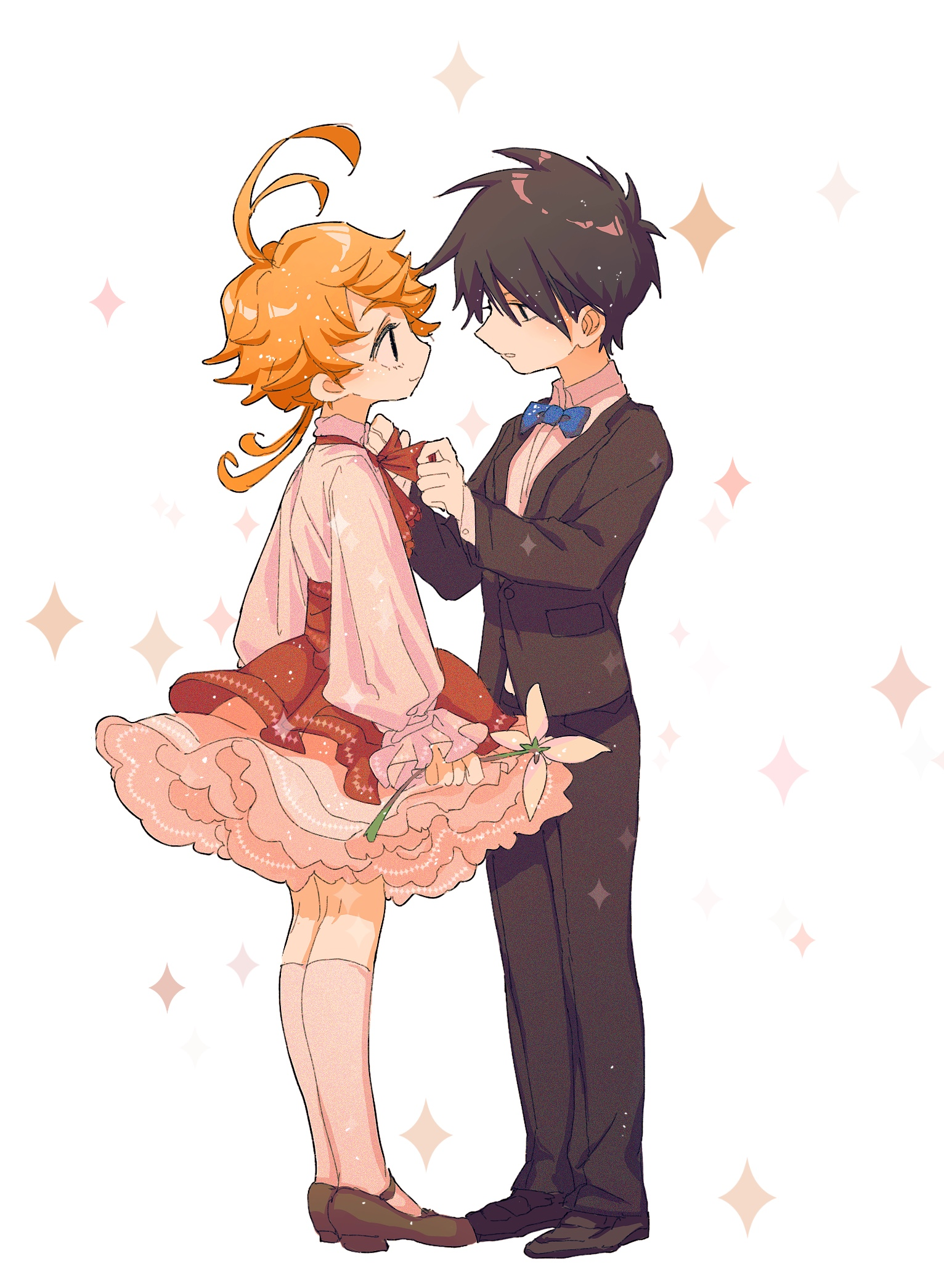 Emma And Ray By Pixiv Id 6709556 Anime Neverland Anime Fanart