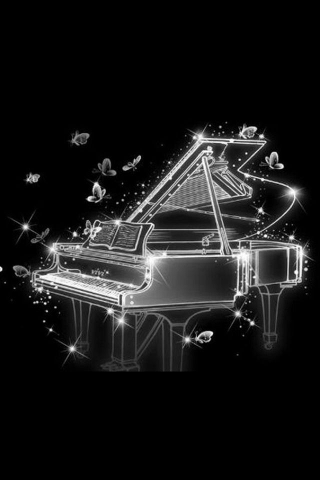 Hd Cool Abstract Piano And Butterfly Iphone 4 Wallpapers Cute Wallpaper Backgrounds Cute Wallpapers Piano