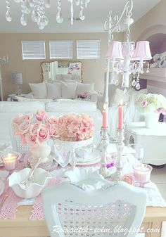 I Can Feel The Calmness Here  My Fav Deco  Pinterest  Shabby Awesome Shabby Chic Dining Room Decor Review