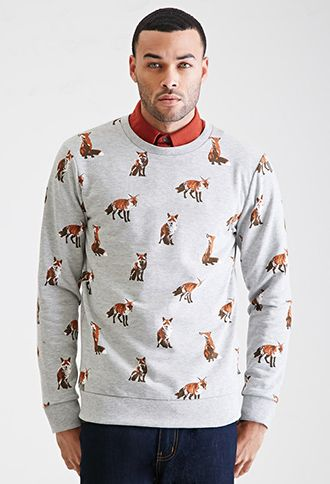 410c41a1782 Fox Print Sweatshirt