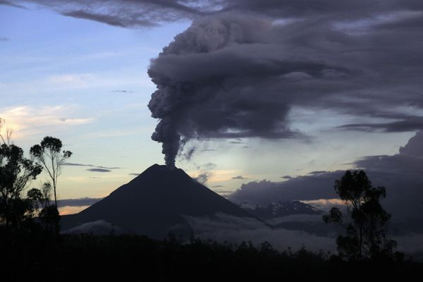 Volcano Tungurahua in Ecuador