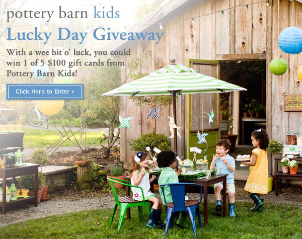 You Could Win 1 Of 5 Gift Cards From Pottery Barn Kids! Click On This