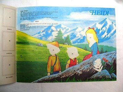 Americana München - Sammelalbum Leeralbum: Heidi - 1977 NEU / NOS ohne Sticker