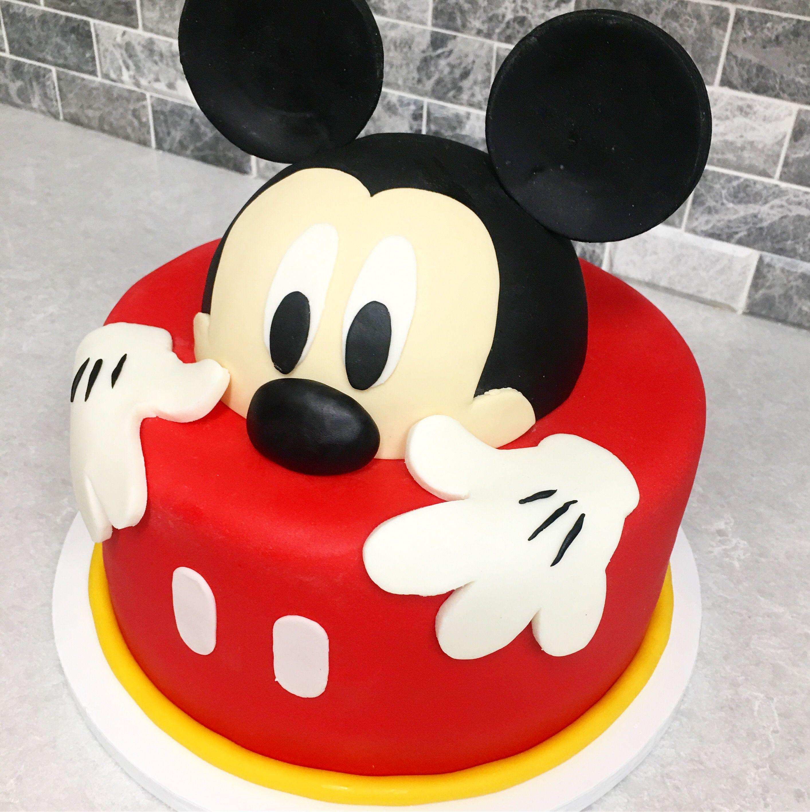 Peeking Mickey Template Mickey Mouse Clubhouse Birthday Cake Mickey Mouse Birthday Cake Mickey Cakes