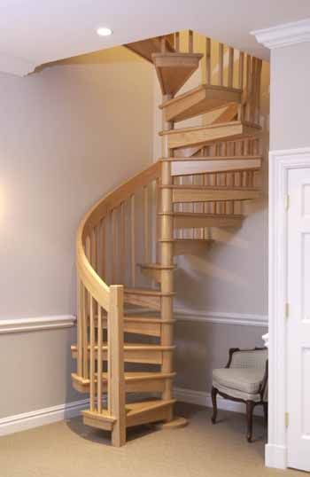 Oak spiral stair future home ideas pinterest spiral for Spiral staircase options