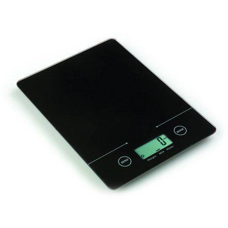 Mainstays Slim Digital Kitchen Scale, Black   Digital ...