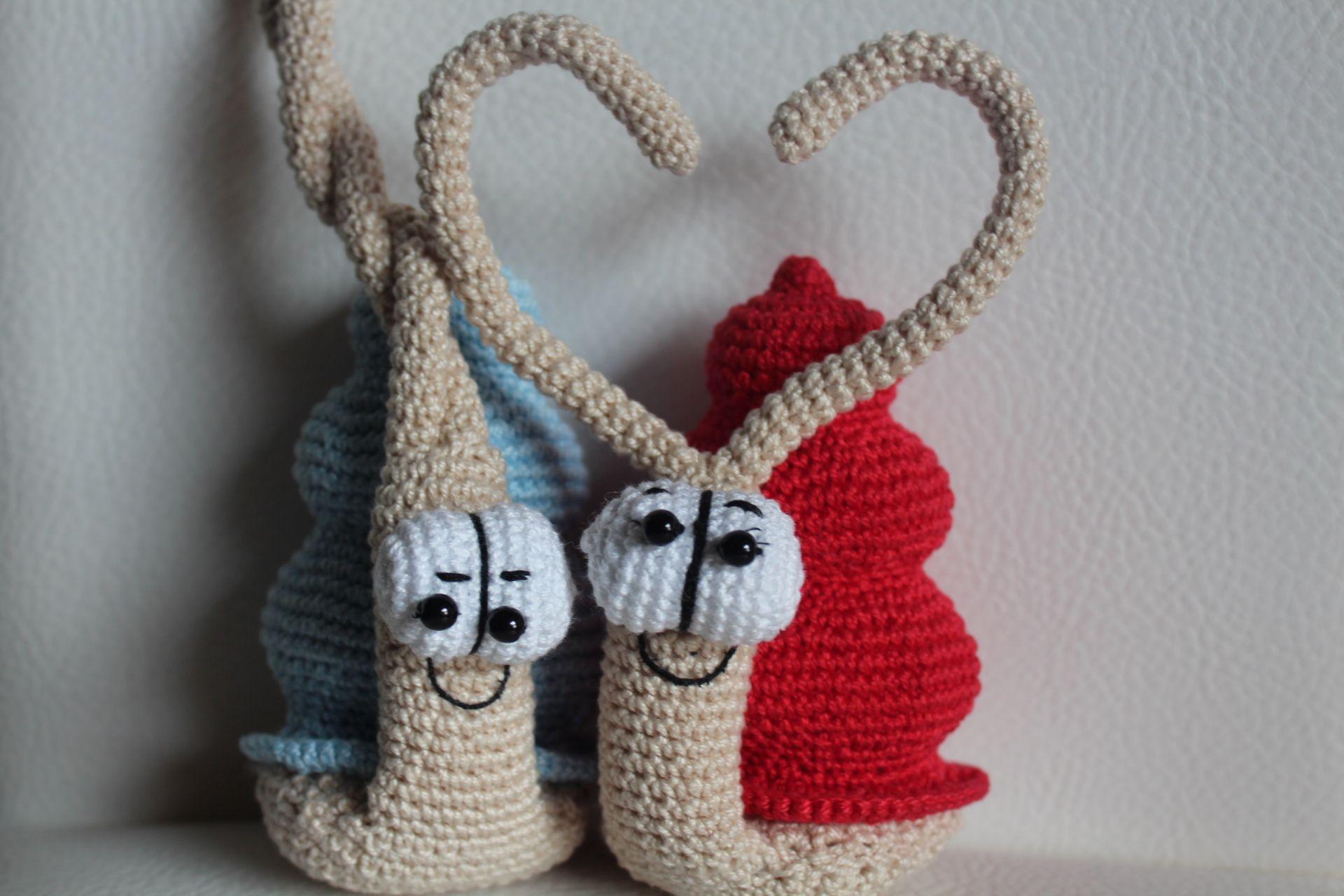 Amigurumi Tutorial Animali : Lumaca antenne a cuore amigurumi schema gratis crochet tutorial