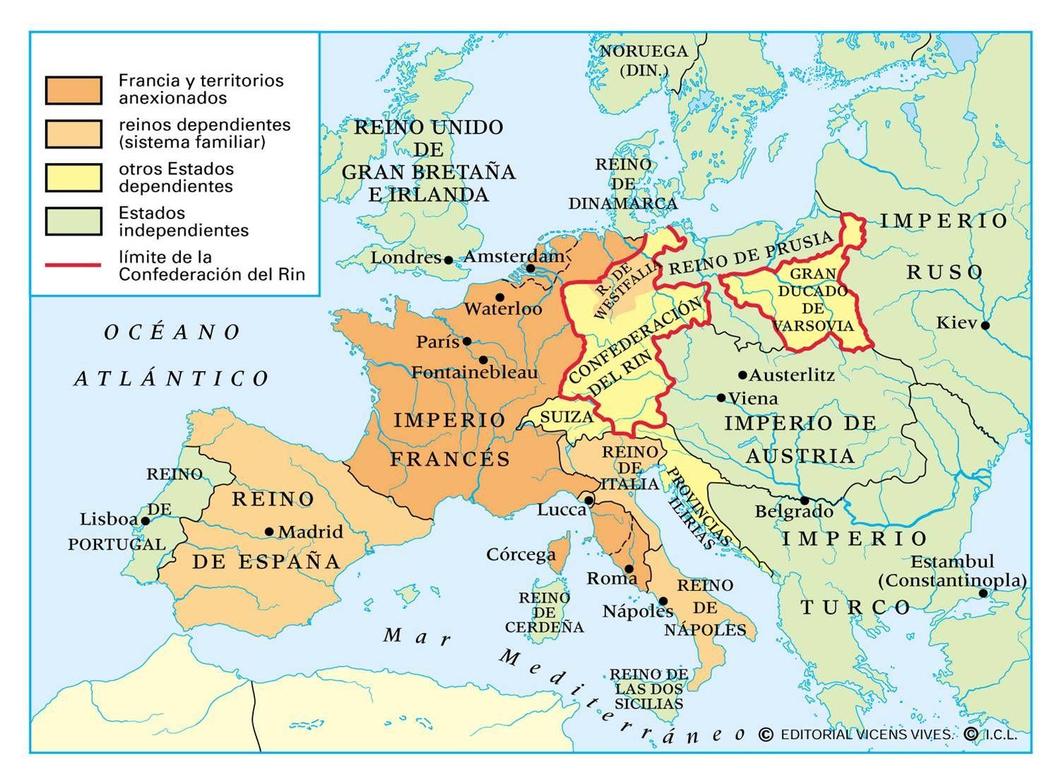 El Imperio Napoleonico Carte De France Carte De France Ville