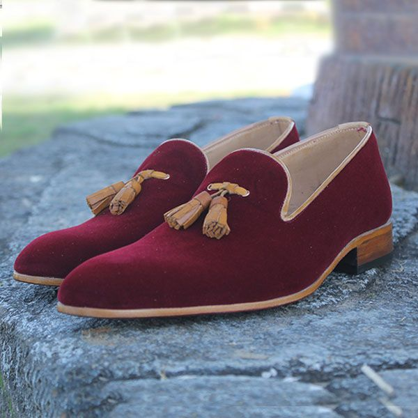 Latest Men Maroon Handmade Tassel Leather Loafer Shoes is part of Loafers men -  Any size  15 days for your order to ship  Shipment Charges 40$ These shoes are specially made to order, each pair will be made upon receipt of order and shipped in approximately 15 days  Because our shoes are handpainted and couturelevel creations, each shoe will have a unique shade and polish, and bit change as photo  THEJKOUTLET shoes are available in a numerous of colors  All models are available in every color and leather which we have on the website  If you have seen a shoe on another page and would like this shoe in that color or leather please fill the comment part in the checkout when you purchase this shoe or simply contact us  Note For bigger sizes US 15  20 we charge extra $80 for extra materials and labor cost