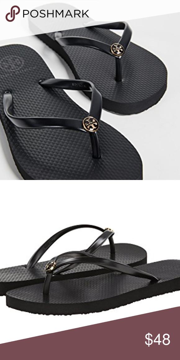 7cbce7d41 Tory Burch Thin Flip Flops Tory Burch Thin Flip Flops black new with box Tory  Burch Shoes Sandals