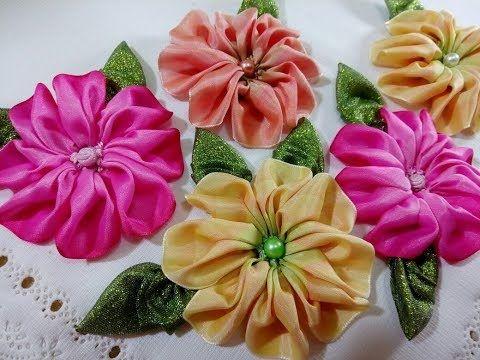 Bordado fantasia tapa panera y flor de liston segunda for Como hacer alfombras en bordado chino