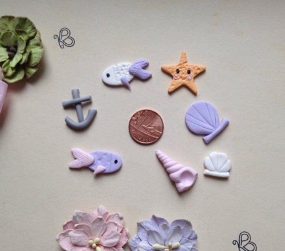 Ocean theme charms Ocean themes, Handmade, Crafty projects