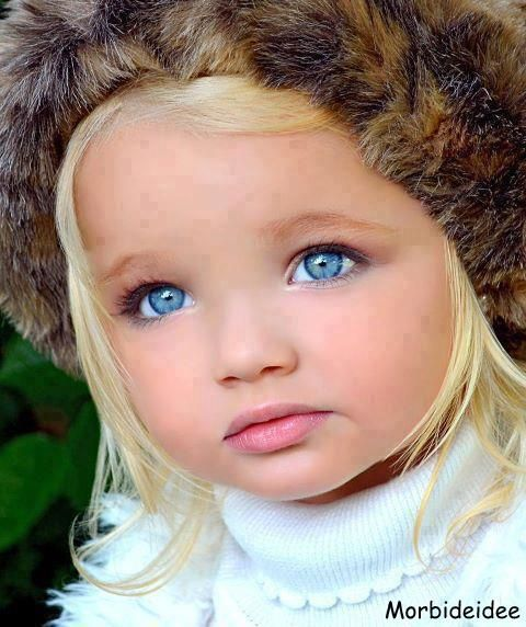 Wow Such Pretty Blue Eyes With Pale Blonde Hair She Is Adorable