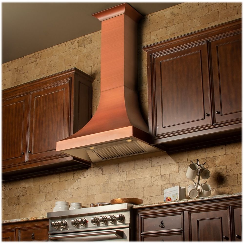 Zline Designer 30 Externally Vented Range Hood Copper 8632c 30 Best Buy In 2020 Copper Kitchen Hood Range Hood Kitchen And Bath