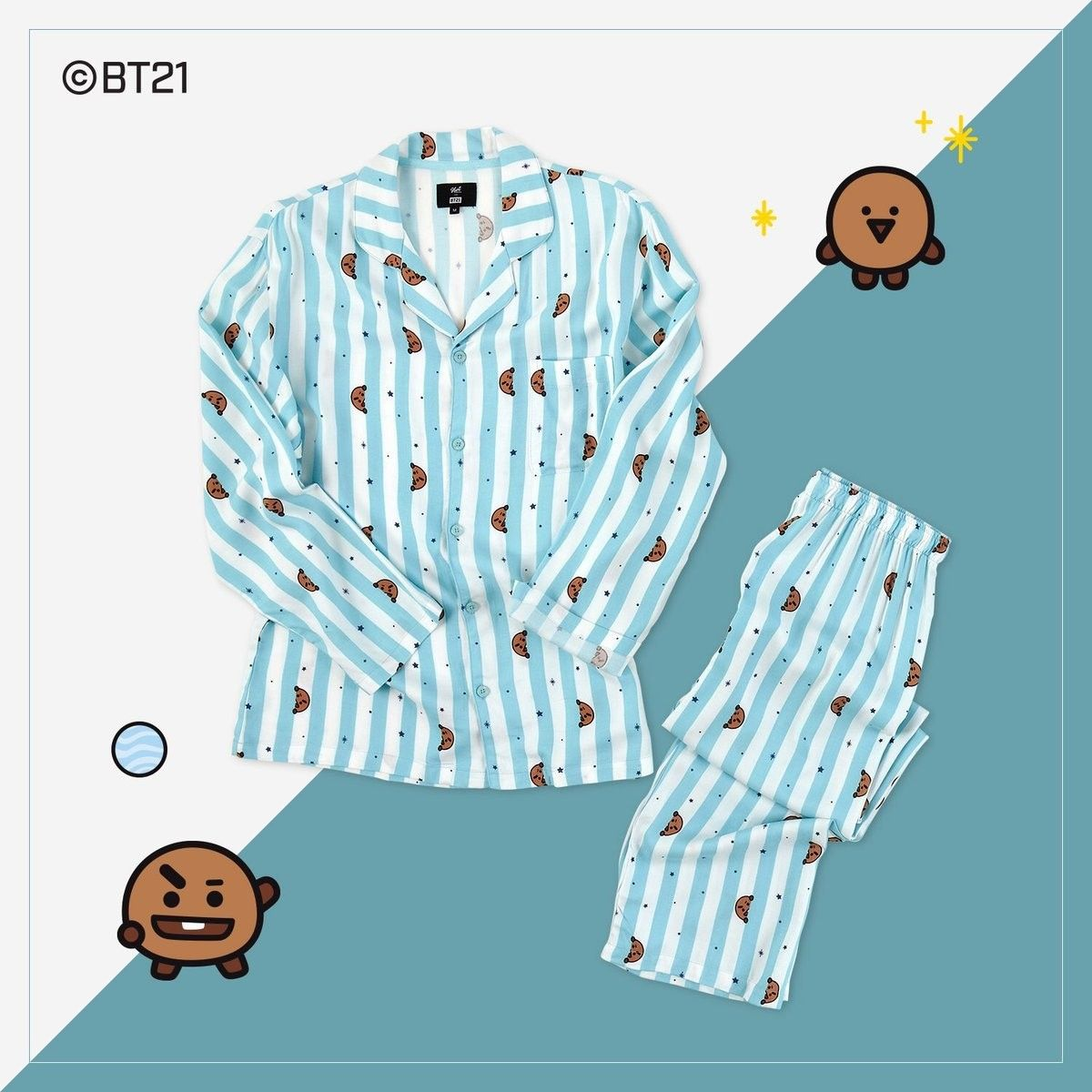 Kpop Home f/ür BTS Bangtan Boys Tshirt BT21 Cartoon v Suga Same Harajuku Short Sleeve Shirt Nighty for Men Women BT21 Shirt
