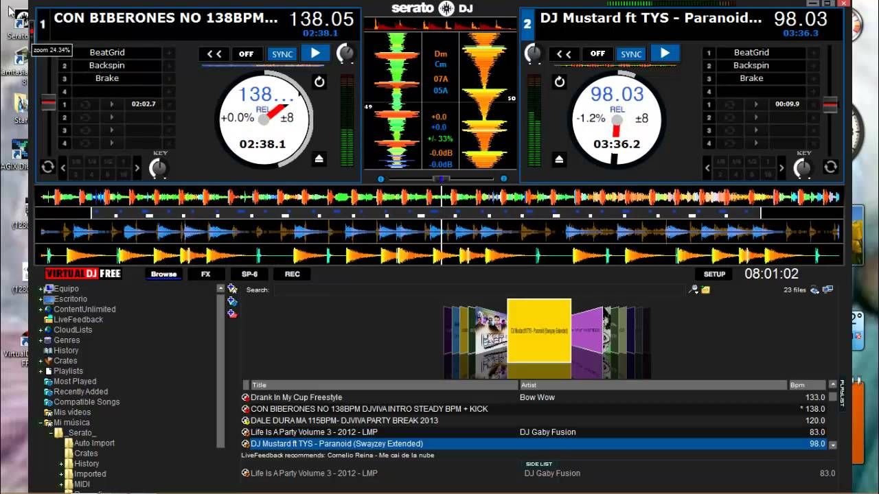 serato dj 1.0.0 skin virtual dj 2013   Entretenimento, Dj