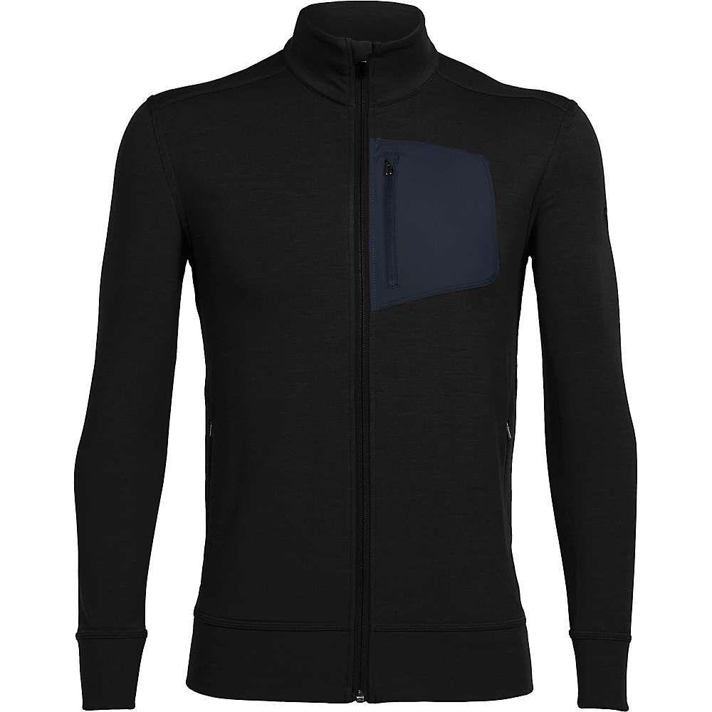 Icebreaker Men's Momentum LS Zip Top Medium Black