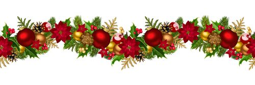 Christmas Decorative Seamless Borders Vectors 03