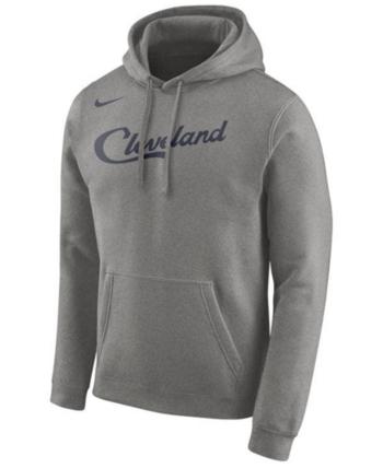 e4fb46166fa Nike Men s Cleveland Cavaliers Earned Edition Logo Essential Hoodie - Gray  XL