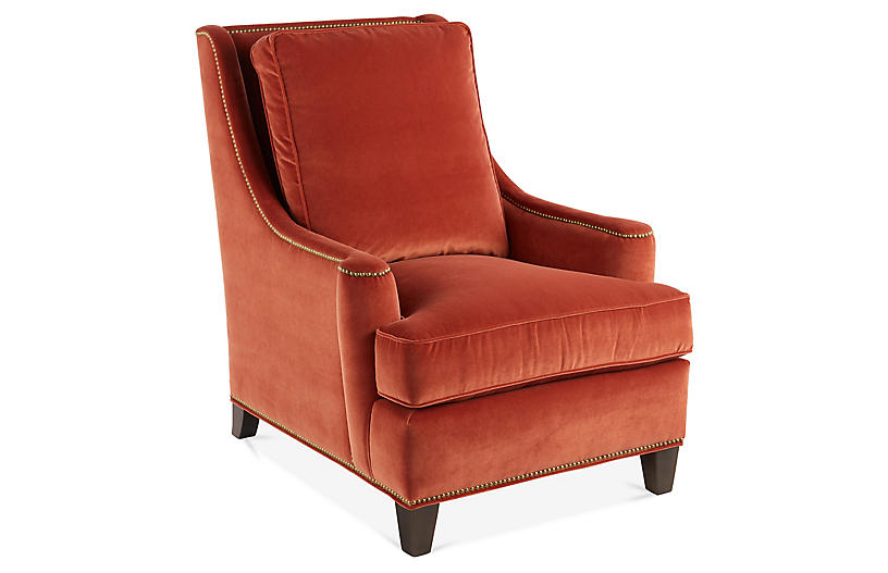 Buhl wingback chair rust velvet wingback chairs