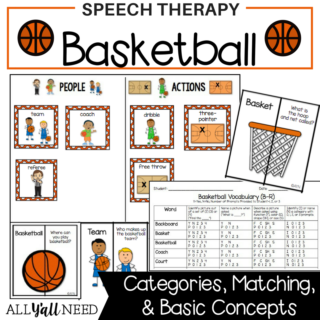 Basketball for Speech & Language Therapy - Younger Elementary ...