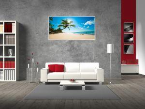 Wandheizung mit Palmenmotiv