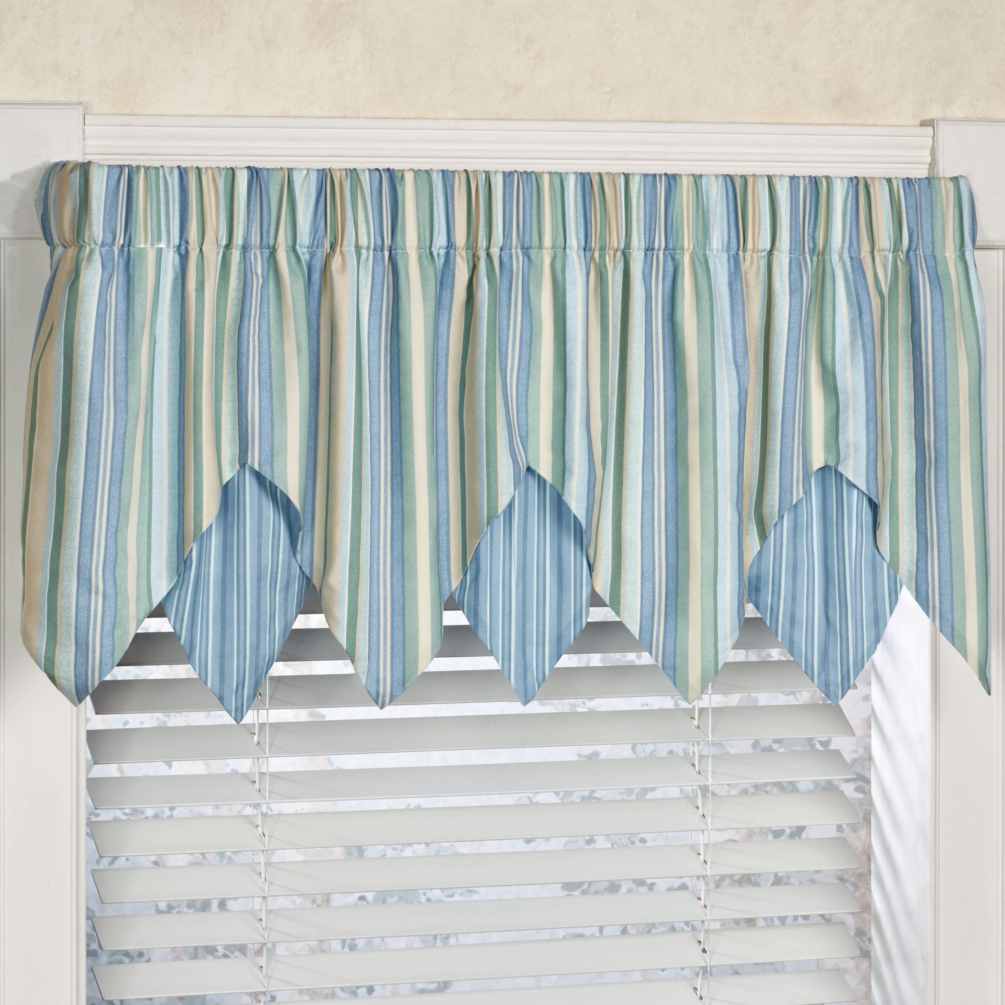 Striped Valances For Kitchen Windows