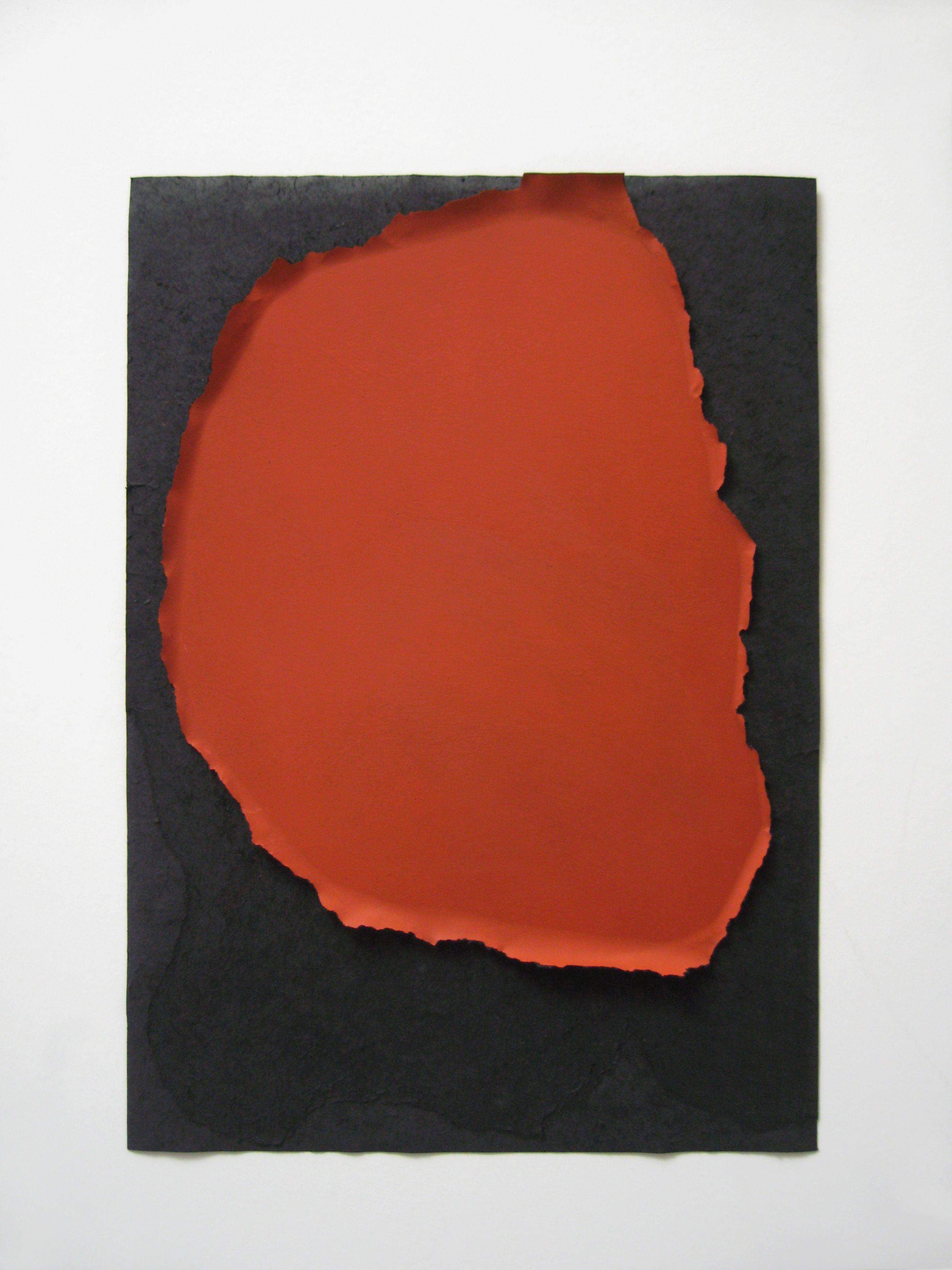 Skin N89, 2015, pittura rossa strappata su carta, 35x50cm. by Carlo Colli - Galleria Poliart Contemporary Sede di Rovereto (TN) - info:  rovereto@galleriapoliart.com