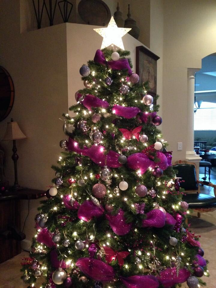 Rena S Pink Purple Christmas Tree Christmas Christmas Purple