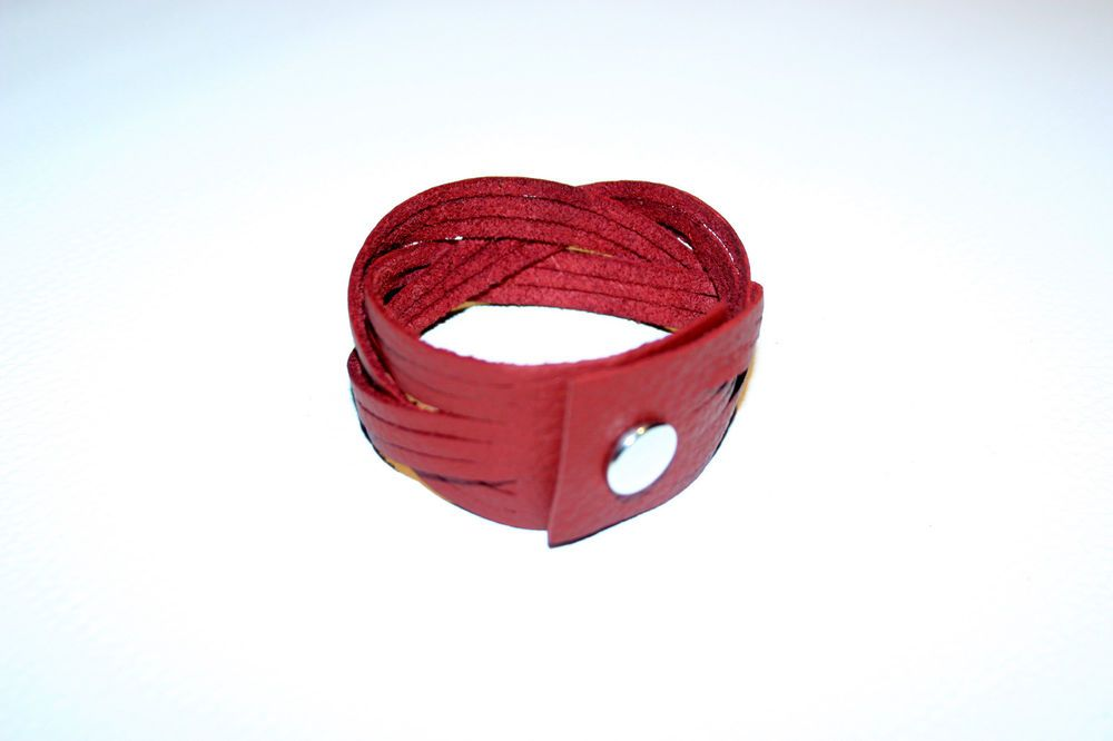 Lederen armband, braided leather bracelet, echt leder, real leather, handmade