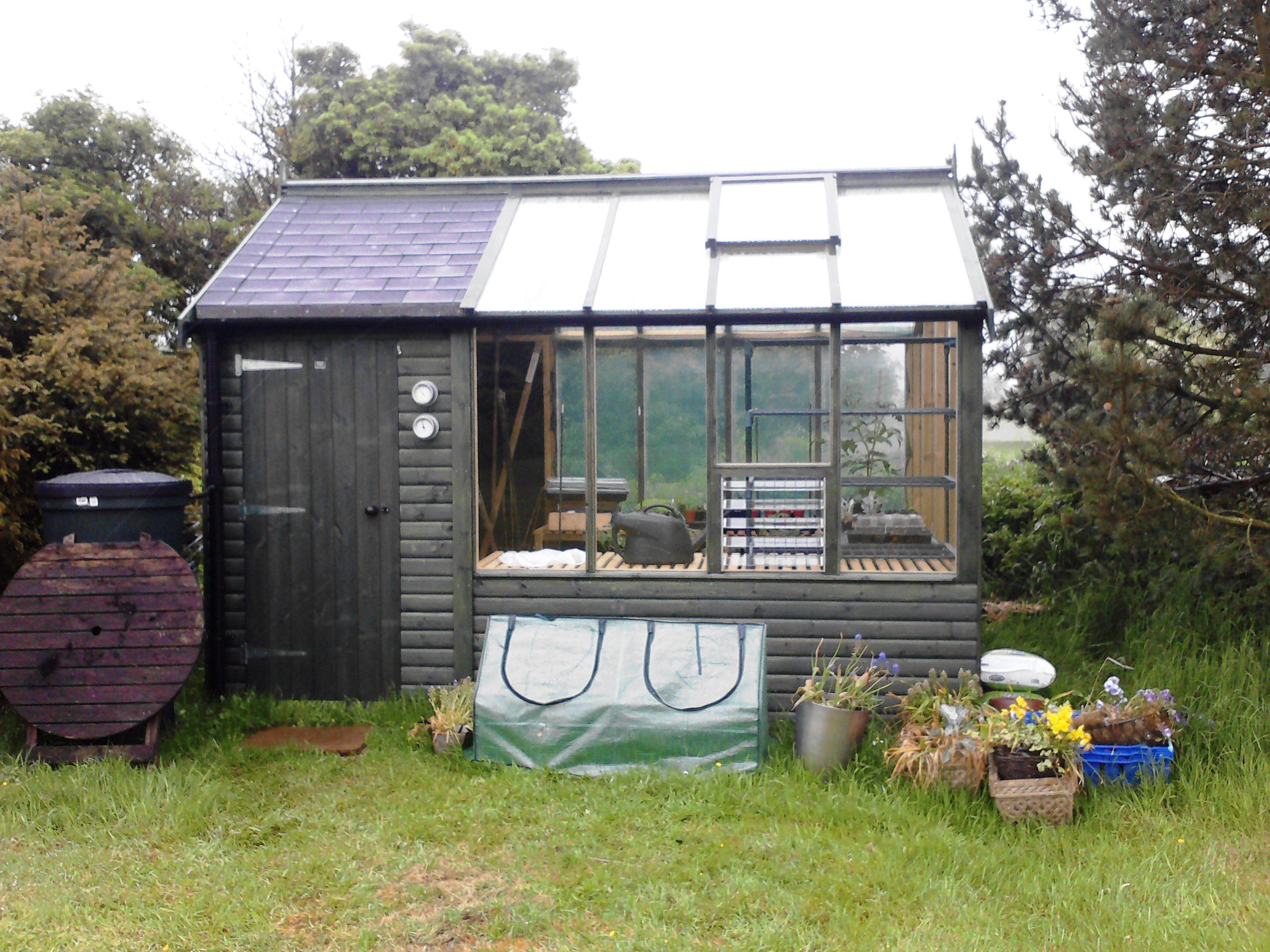 garden shed with greenhouse attached heated barracuda shed greenhouse - Garden Sheds With Greenhouse