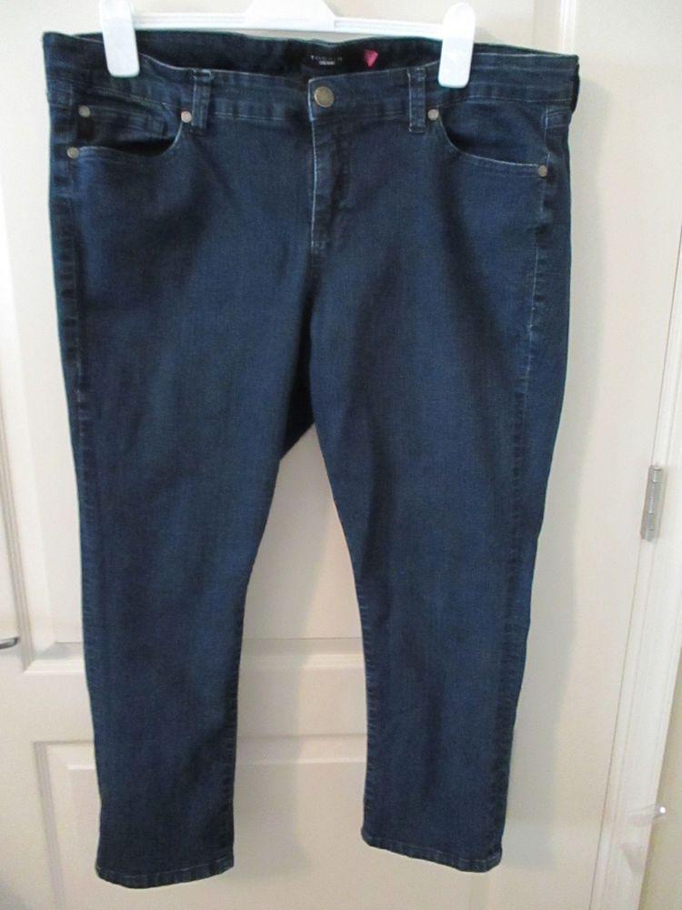 ecaf76636ebab Torrid Denim women s jeans size 20 dark blue stretch crop length roll up  cuff  fashion  clothing  shoes  accessories  womensclothing  jeans  ad (ebay  link)