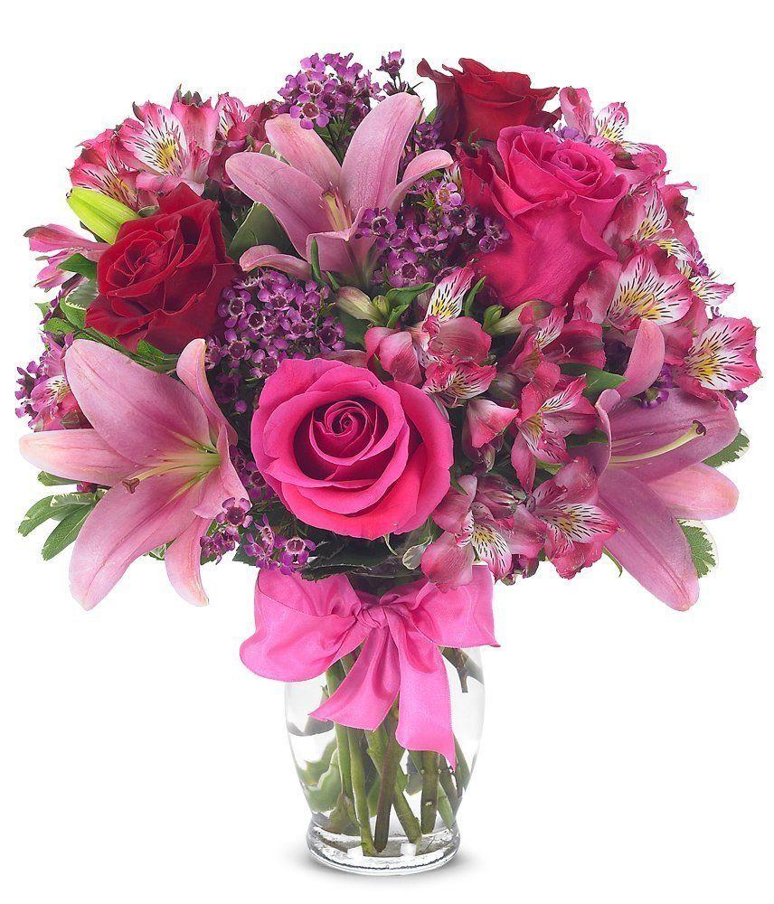 Flower Delivery Rose & Lily Celebration (FREE Vase