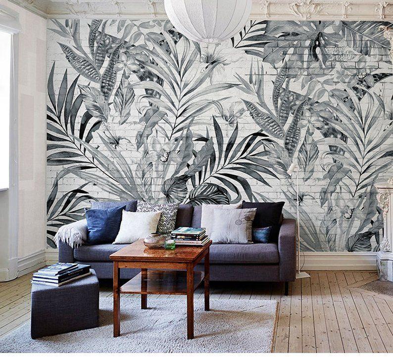 Sketch Tropical Rainforest Wall Murals Wall Decals Vintage