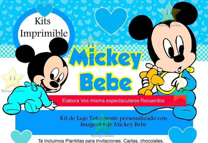 Cumpleaños Mickey baby todo - Imagui