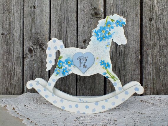 Personalized rocking horse toy custom baby by vintagelullabydesign personalized rocking horse toy custom baby gift boy rocking horse decor baby shower gift customized baby items unique baby gift for kids negle Gallery