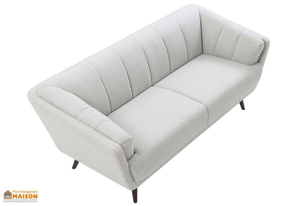 Canape Scandinave 3 Places En Feutre Gris Edgar Furniture Sofa Couch